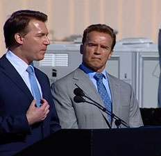Arnold Schwarzenegger and Chris Gronet: Two more unemployed Californians.