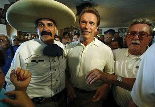 Gov. Arnold Schwarzenegger and Pico Rivera mayor Pete Ramirez speak out against crude ethnic stereotypes.
