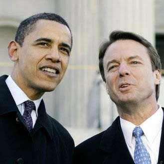 John Edwards considers telling the press that Barack Obama sired Rielle Hunter's baby, January 2008.