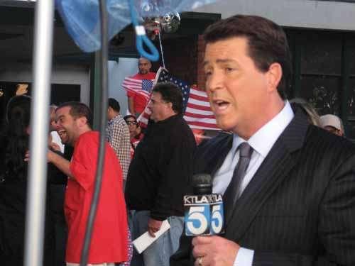 Actual TV newsman.