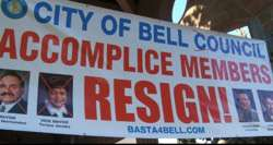 City of Bell protest.
