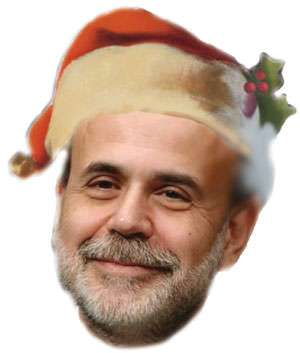 For the third straight year, Ben Bernanke brings you a lean Christmas, this time with inflation.
