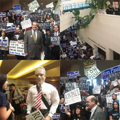 Ron Paul Rally briefly energizes a deadly California Republican Convention.