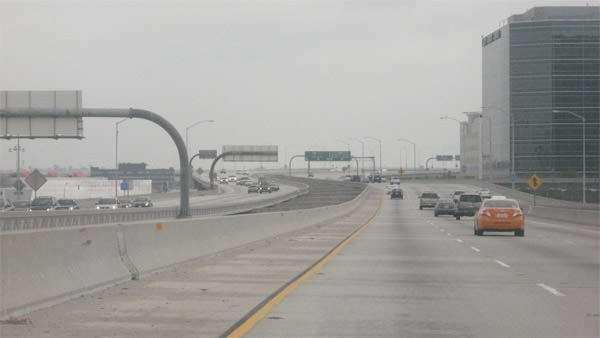 Carmageddon: Light traffic on Interstate 105 July 16 2011.
