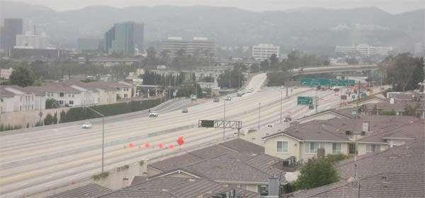 Carmageddon: Interstate 405 closed at Interstate 10 July 16 2011.