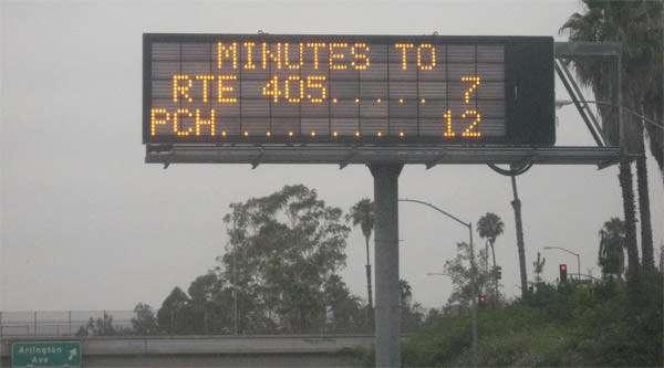 Carmageddon: Fast moving traffic on Interstate 10 July 16 2011