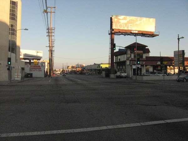 Carmageddon: Dr. Robert Neville drives along a desolate Sepulveda Blvd.
