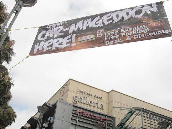 Carmageddon: Sherman Oaks Galleria offers specials July 16 2011.