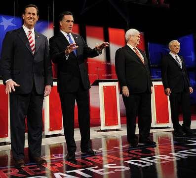Last four men standing.