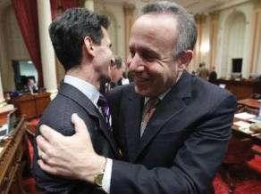 Darrell Steinberg isn't afraid to hug men.