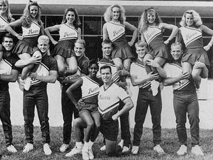 Next TMZ scoop: Deneeta Pope had the least-kinky hair on her cheer squad.
