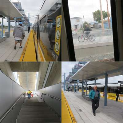 Employees, passengers are about evenly distributed along the Expo Line route.