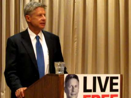 Gary Johnson speaking in San Antonio, Texas