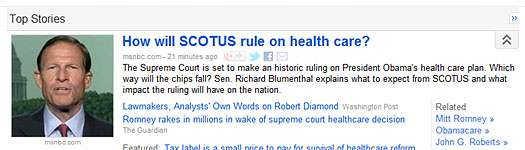 "They should replace it with a ""Court strikes down individual mandate"" headline."