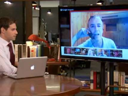 HuffPostLive with Blue Man