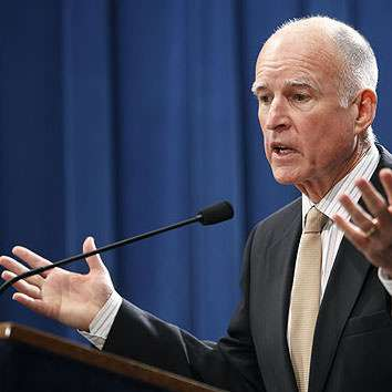 There are lots of pictures of Jerry Brown looking just like this.