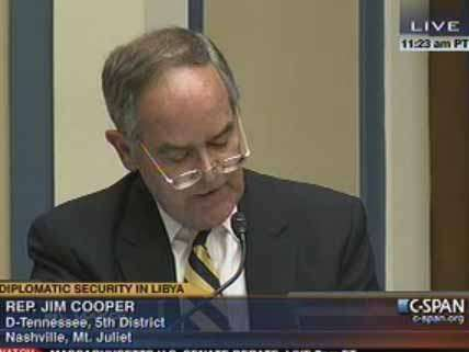 Rep. Jim Cooper reads a list of people who died during the Reagan administration.