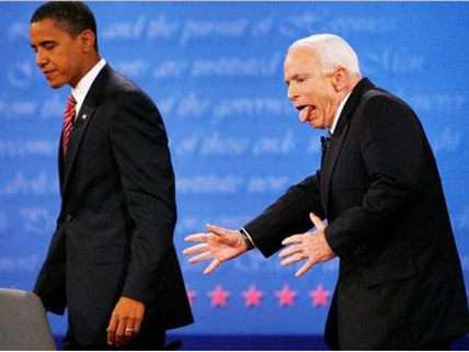 Barack Obama and John McCain's first debate took place in a gentler, more civilized era before partisan rancor polarized our political culture.