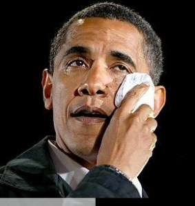 It's Obama's turn to cry.