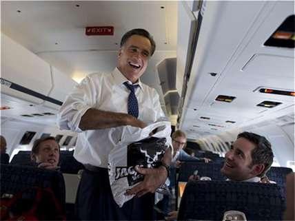 Mitt Romney, looking presidential in coach.