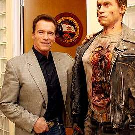 The one on the left is a waxwork.