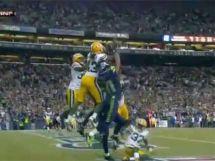 Bad call at Green Bay/Seattle Monday Night Football game.