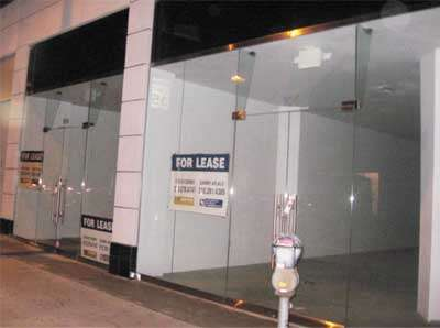 Come shopping for FOR LEASE signs.
