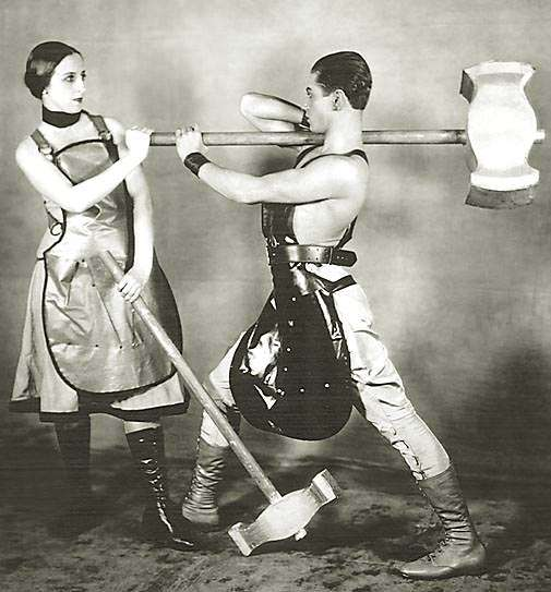 In Soviet Russia, man has bigger hammer than woman!