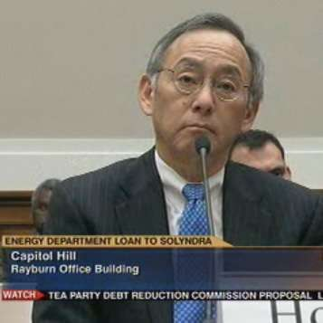 Solyndra-related stress has caused Sec. Chu to grow a microphone out of his lower lip.