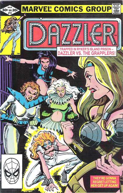 Why haven't they made a Dazzler movie? If there's one thing America needs right now, it's a rollerdisco diva in a pantsuit with a really lame superpower.