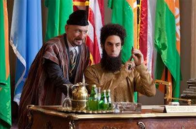 The Dictator: This scene might have worked with Jimmy and Al Ritz.