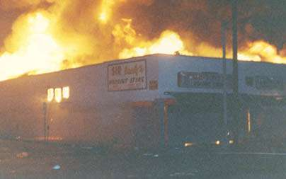 Vermont Ave. and Manchester Blvd. burning in 1992.