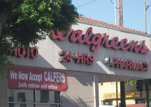 Every dollar CalPERS spends at Walgreens generates $1.55 in economic activity.