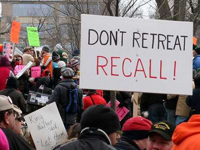 Wisconsin protesters invoke 86-year-old recall law.