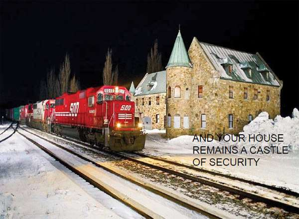 The train will take you right to your front door.