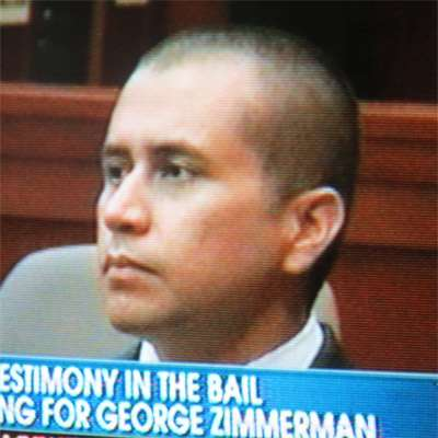 George Zimmerman at his bail hearing