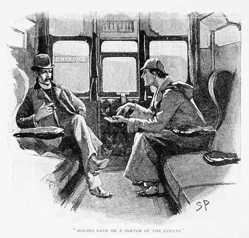 A detective story about Holmes' famous line. (Illustration credit: Strand Magazine, Dec. 1892, now in the public domain.)