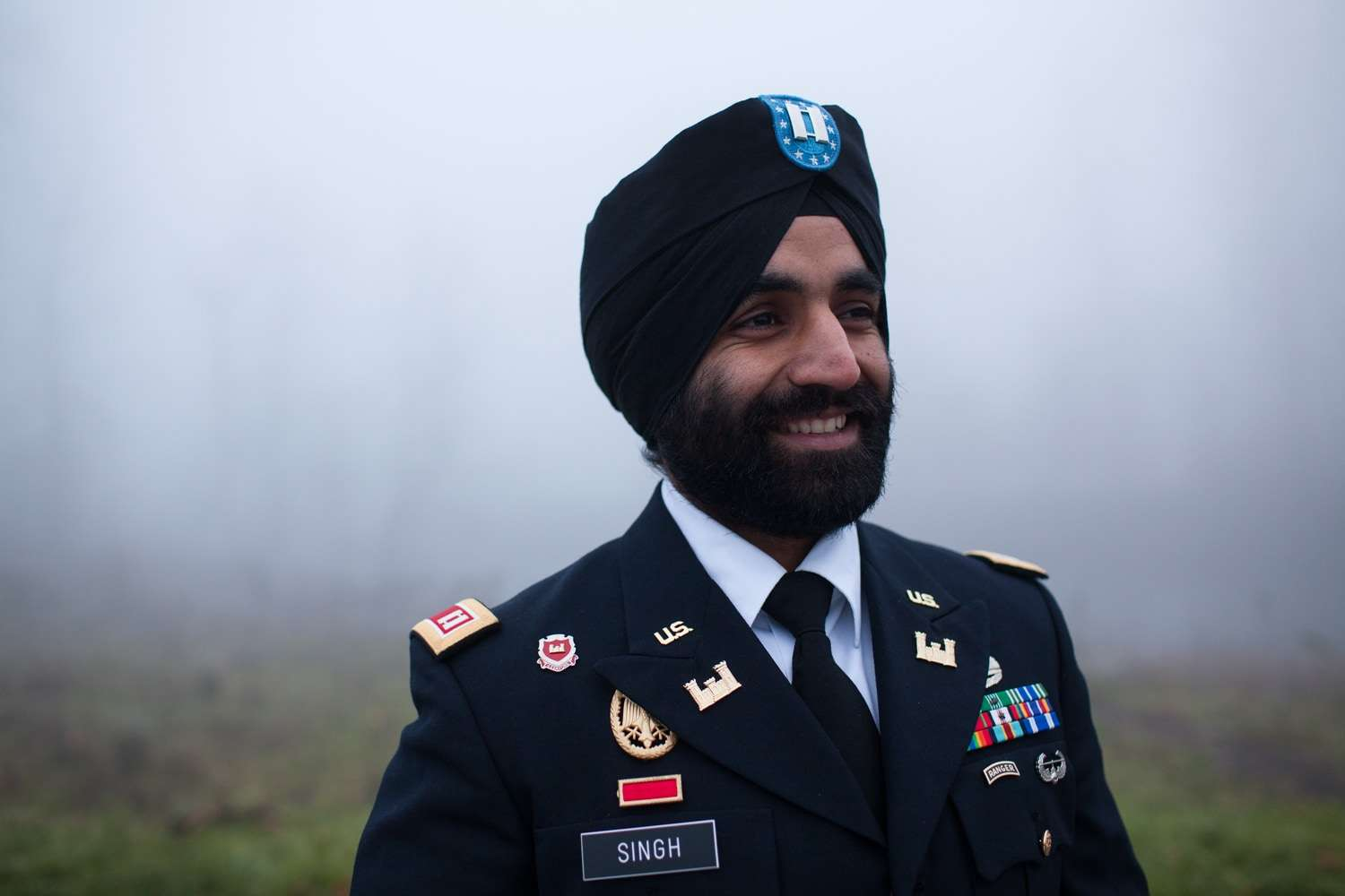West Point graduate and Bronze Star recipient Captain Simratpal Singh; photo credit: Becket Law & Sikh Coalition.