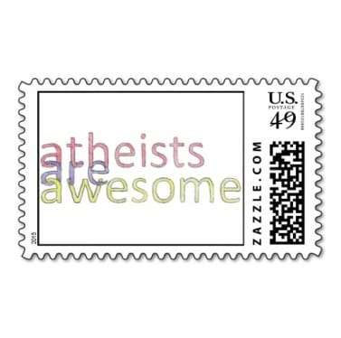 atheists stamp