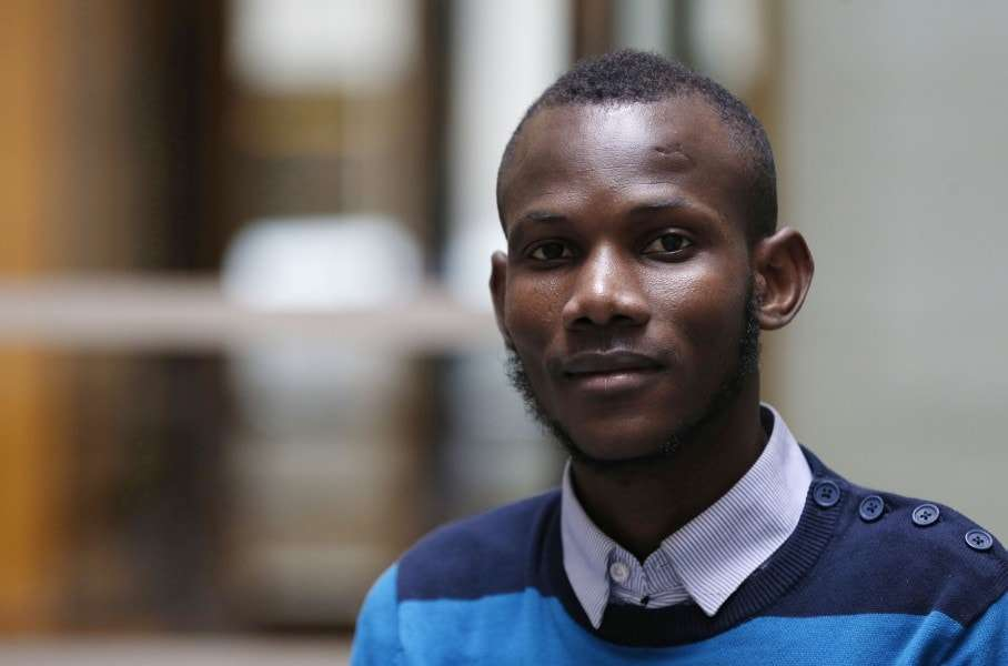 Malian Lassana Bathily, a Muslim employee who helped Jewish shoppers hide in a cold storage room from an islamist gunman during the January 9, 2015 attack, poses on January 15 in Paris. Four people were killed by jihadist Amedy Coulibaly in a hostage-taking drama at a kosher supermarket in Paris. AFP PHOTO / FRANCOIS GUILLOTFRANCOIS GUILLOT/AFP/Getty Images