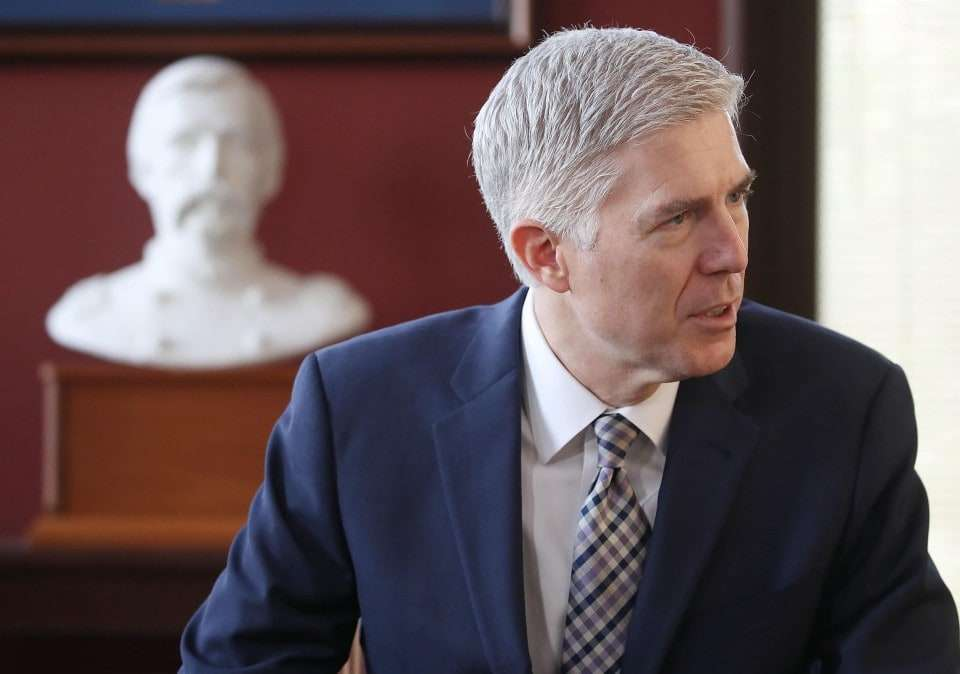 WASHINGTON, DC - MARCH 01: Supreme Court nominee Judge Neil Gorsuch (Photo by Mark Wilson/Getty Images).