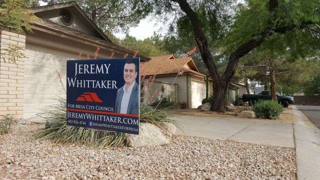 One of Whittaker's campaign site (photo from the Whittaker campaign).