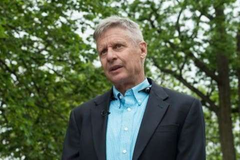 Libertarian presidential candidate Gary Johnson.