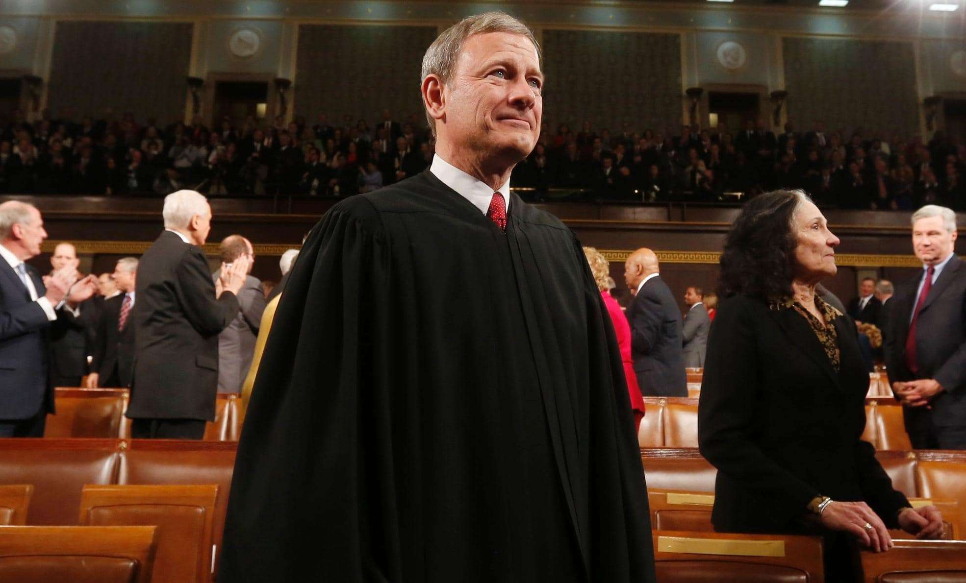 U.S. Supreme Court Chief Justice John Roberts arrives prior to President Barack Obama's State of the Union speech on Capitol Hill in Washington, in this file photo taken January 28, 2014. (REUTERS/Larry Downing/Files)