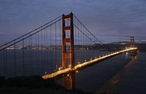 San Francisco's famous Golden Gate Bridge.