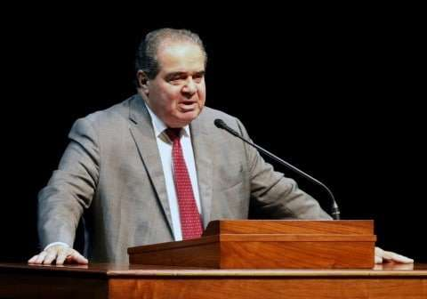 In this Oct. 2015 photo, Supreme Court Justice Antonin Scalia speaks at the University of Minnesota. (Jim Mone/AP)