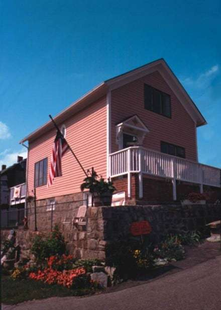 "Susette Kelo's famous ""little pink house,"" which became a nationally known symbol of the Kelo case."