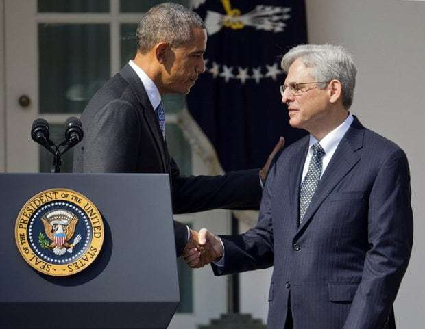 President Obama and Judge Merrick Garland. March 16, 2016.