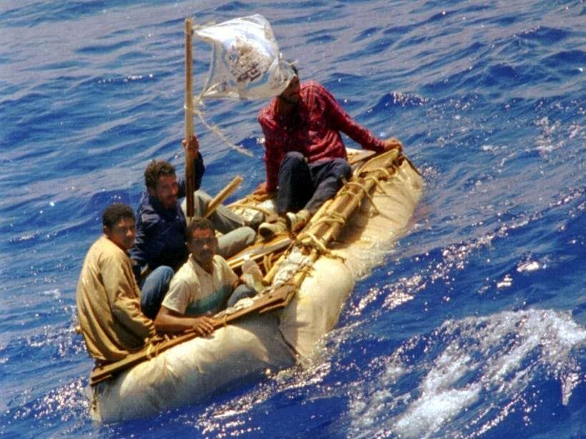 Cuban refugees attempting to reach the United States in 1994 (AP).