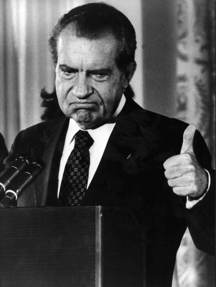 Richard Nixon in 1974 (AFP Photo).